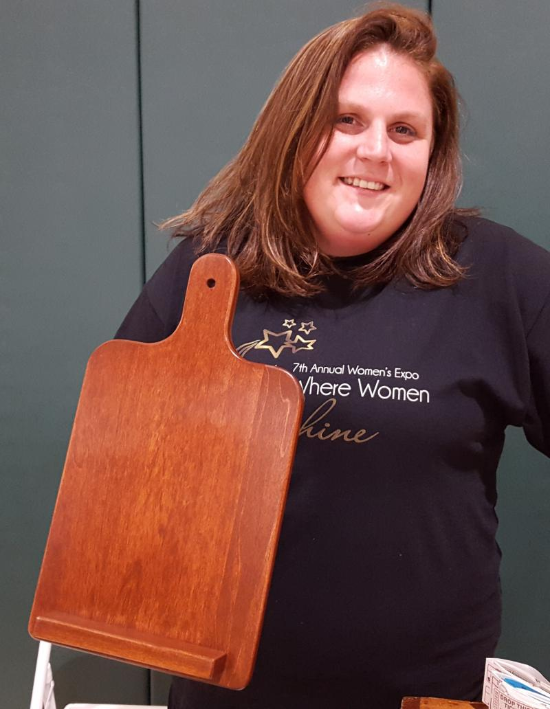 Jennifer VanIngen won a Wooden Tablet Holder!