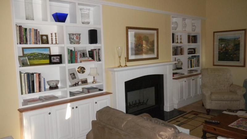 Mantle and matching bookcases in a Trappe, PA home.